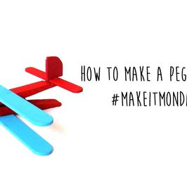 #MakeitMonday brings us to making these awesome Peg Plane crafts!