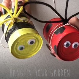 "Make it Monday | Make a recycled can garden ""minibeast"""