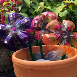 Make it Monday | Let's Make Recycled Plastic Bottle Flowers
