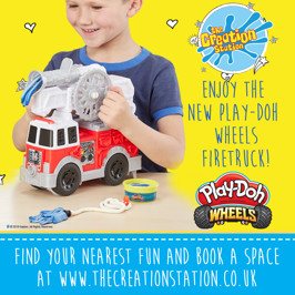 Going to the Gravel Yard!   Play Doh and The Creation Station are rolling out more workshops this September!