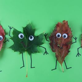 It's Make it Monday | Let's make a Funky Leaf People Picture
