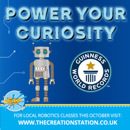 Inspire imaginations through robotic workshops and Power Your Curiosity with Guinness World Records (TM)