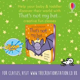 "Partnering with Usborne,  ""That's Not my Bat.."" book takes over hundreds of Baby & Toddler classes throughout October"