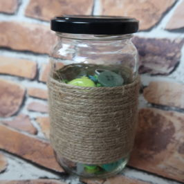 Make it Monday | Recycled Jar Storage