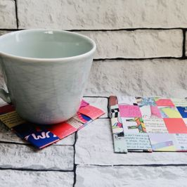 It's Make it Monday   Let's use old magazines to make coasters