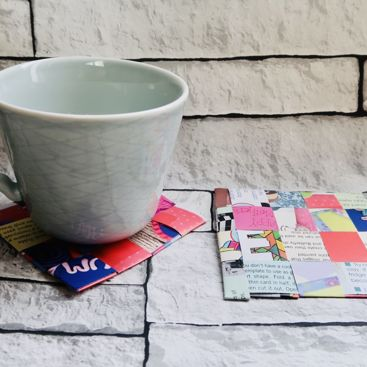 It's Make it Monday | Let's use old magazines to make coasters