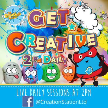 Get Creative with the kids with live daily activities from The Creation Station #ImagineNation.