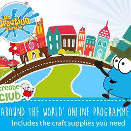 Online creative classes for 5 - 11 year olds with free craft pack delivered to your door