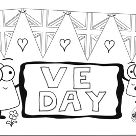 FREE VE Bunting Colouring In Sheet To Download