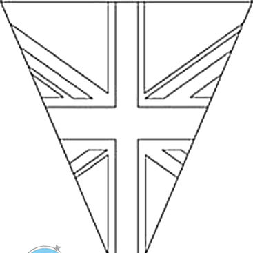 Download VE Day Bunting Template TO Colour In