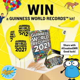 Competition - win a 'record-breaking try this at home GUINNESS WORLD RECORDS kit'.