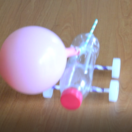 2 Minute Challenge. How to make a Balloon Bottle Car