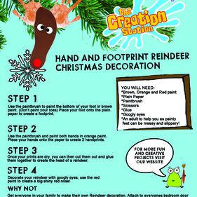 Make a Childrens Art and Craft Rudolph Picture