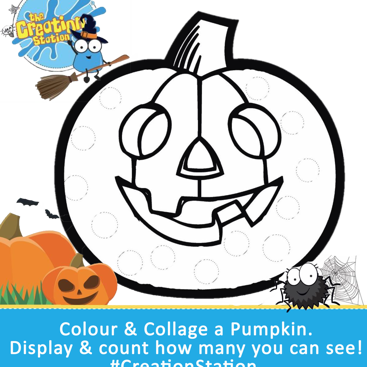 Halloween pumpkin colouring sheet download