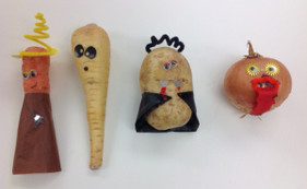 Turn your left over fruit and vegetables into your own spooky Halloween friends