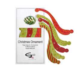 Paper Strips for Christmas Ornaments