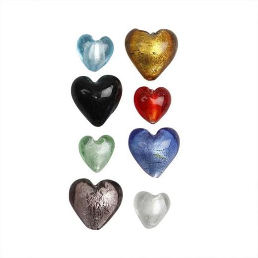 Glass Heart Beads