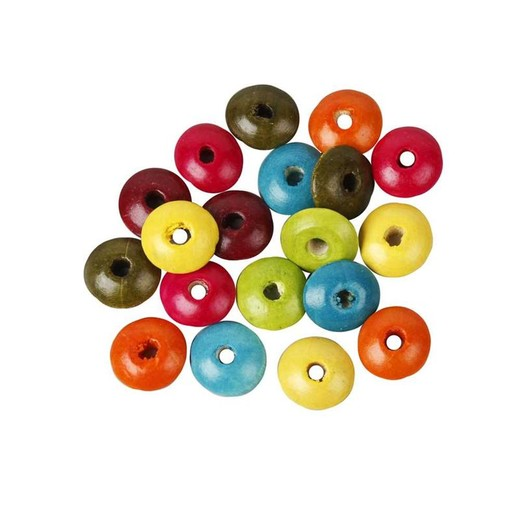 Wood Rondelle Bead Mix