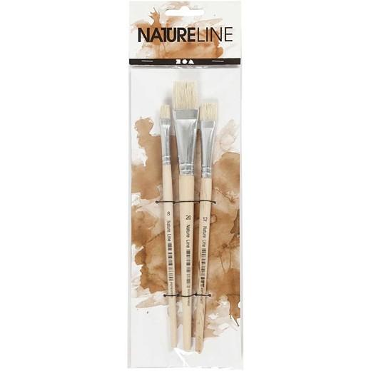 Nature Line Hog Bristle Brush Set