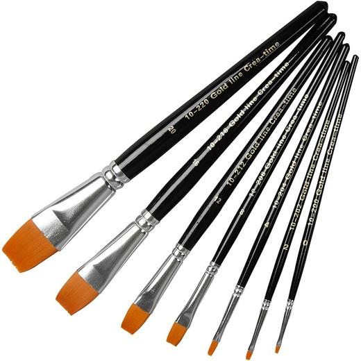 Gold Line Acrylic Brush Set