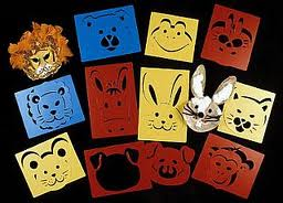 Washable Animal Stencils For Mask Making And Painting x 10