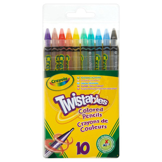 Crayola Twistables Coloured Pencils x 10
