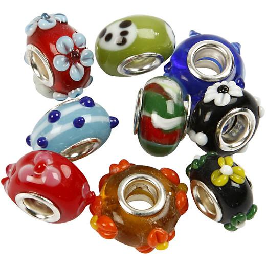 Luxury Glass Charm Beads