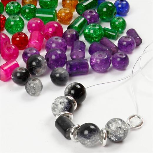 Crystal Effect Glass beads - Assortment