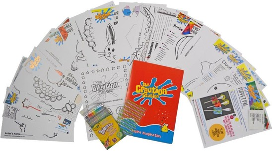 Children's Art & Craft Activity Pack with Folder