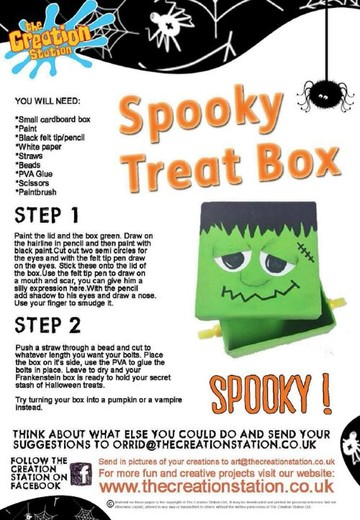 Download Halloween Treat Box Activity Sheet