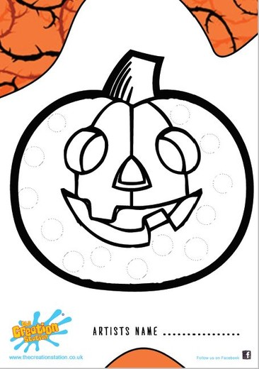 Download Halloween Pumpkin Colour And Create Sheet