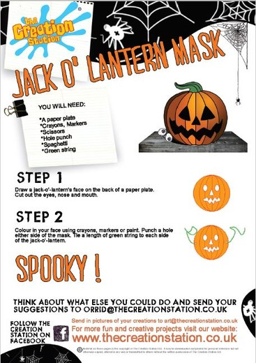 Download Halloween Jack O'Lantern Colour And Create Sheet