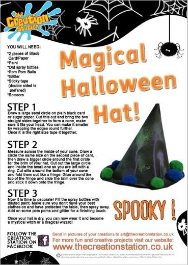 Download Halloween Hat Activity Sheet