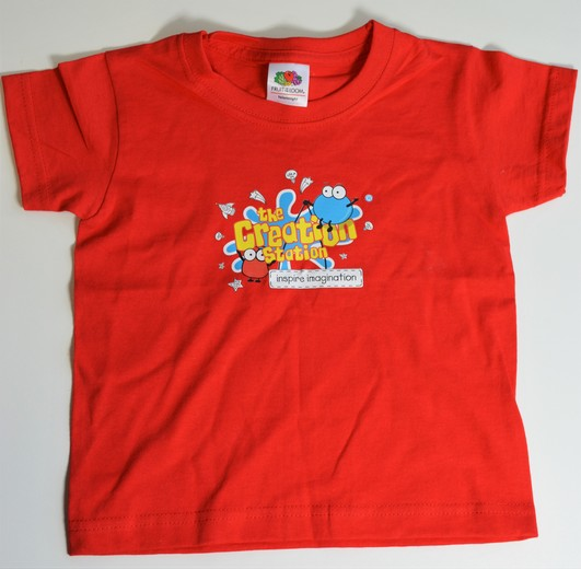 Creation Station T-shirt ages 3- 4 years red