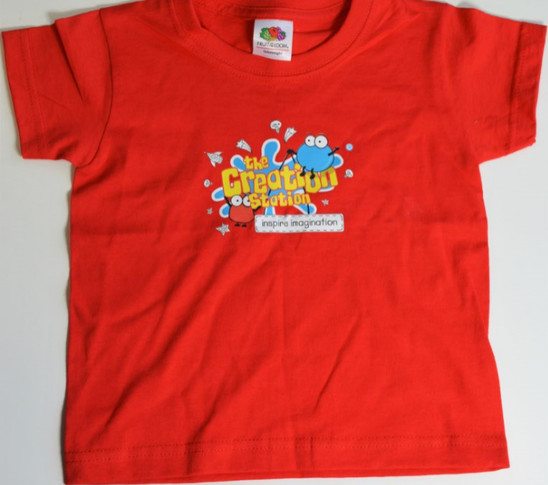 Creation Station T-shirt ages 1- 2 years red