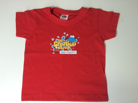 Creation Station T-shirt Best Helper ages 2-3 years (red)