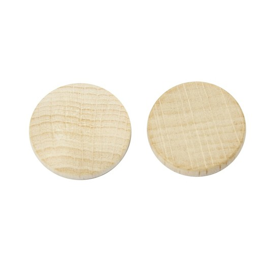 Wooden buttons, D: 20 mm, thickness 4,6 mm, 200pcs