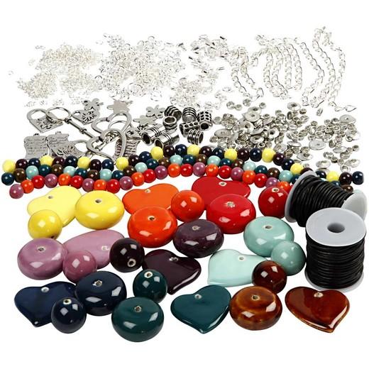 Jewellery with ceramic beads