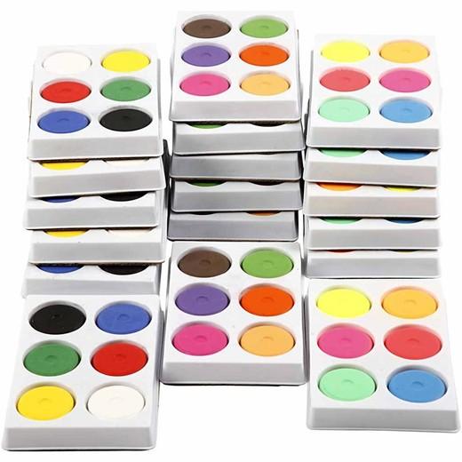 Watercolor in palette