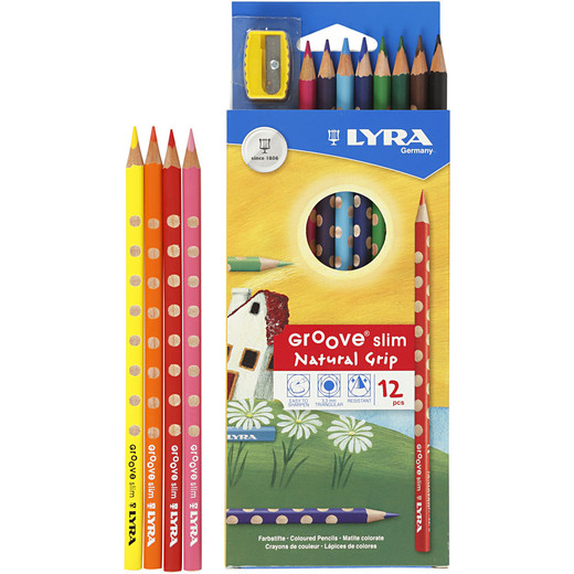 Groove Slim colouring pencils