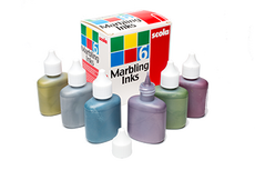 Marbling Metallic  Inks Pack of 6