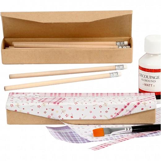 Pencil Case with Pencils