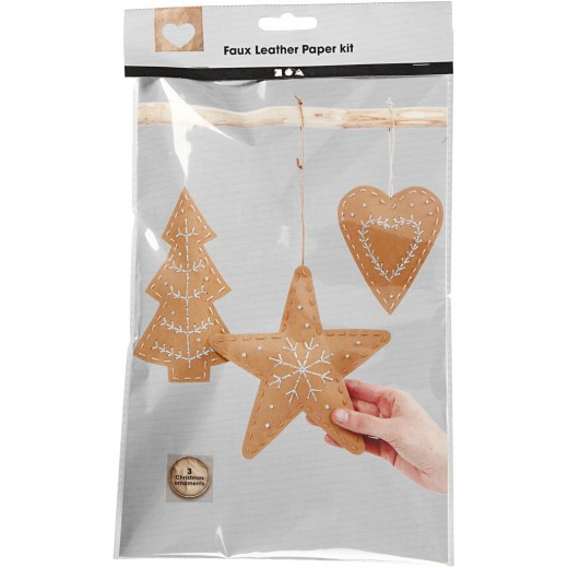 Faux Leather Christmas Ornaments