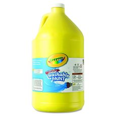 Crayola 128oz (3.79L) Washable Paint Yellow