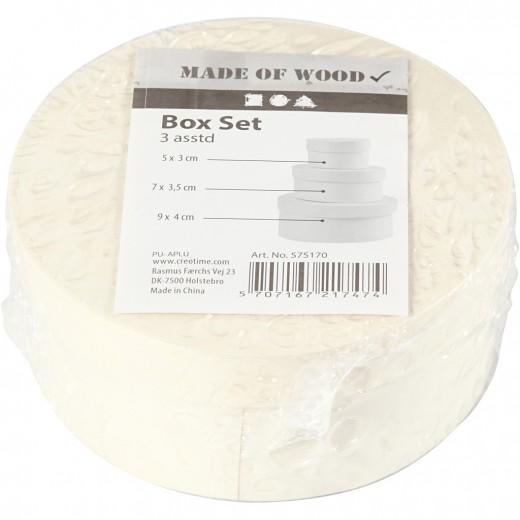 Round Wood Chip Box