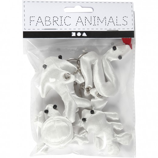 Fabric Creepy-Crawly with key rings