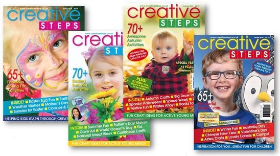 Creative Steps 2018 covers