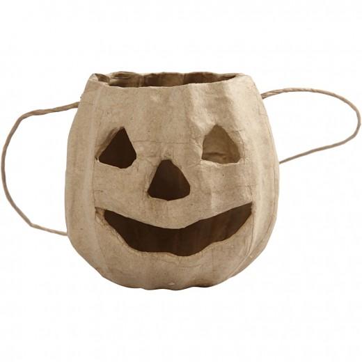 Pumpkin head basket
