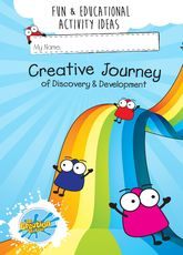 Creative Journey Activity Sticker Book - covering colour, texture  and shapes.