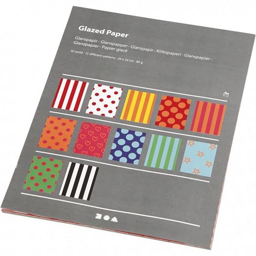 Glazed Paper with print